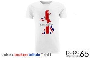 Unisex Slim Cut Jersey T-shirt broken-britain papa65