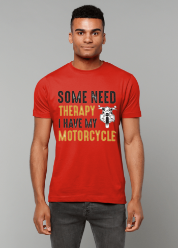 Motorcycle therapy T shirt papa65