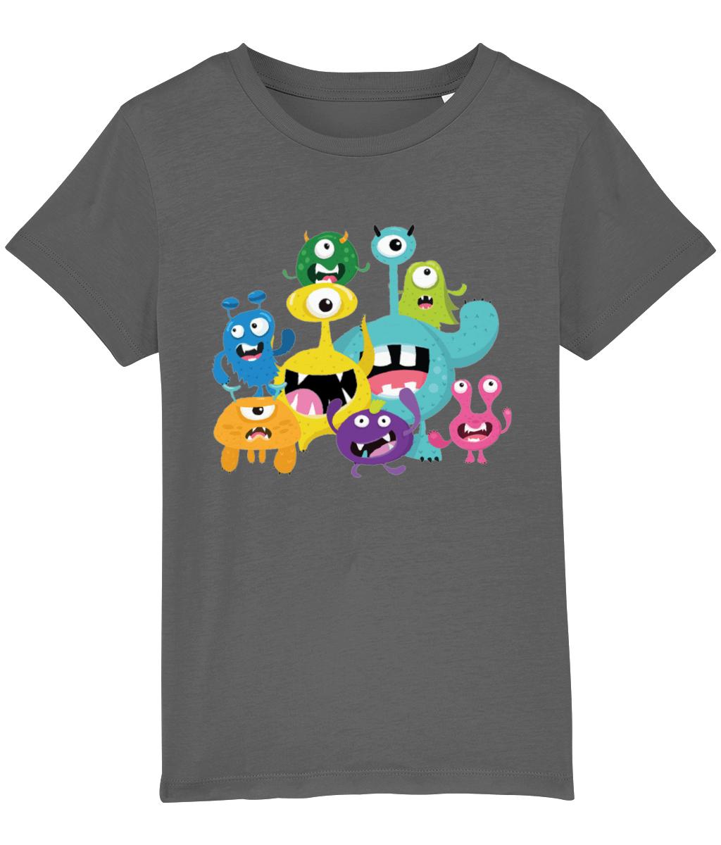 Kids little monsters T shirt papa65