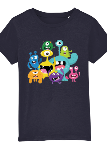 Kids little monsters T shirt papa65